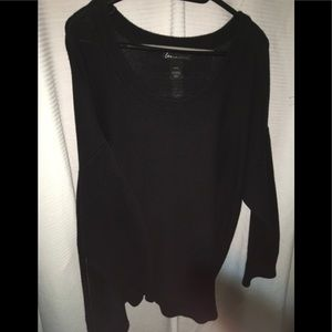 Lane Bryant black sweater zipper sides size 22/24